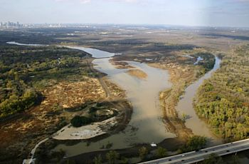 Aerial view of Wetland Cell-G