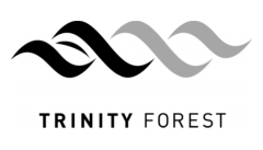 Black & White Trinity Forest Logo